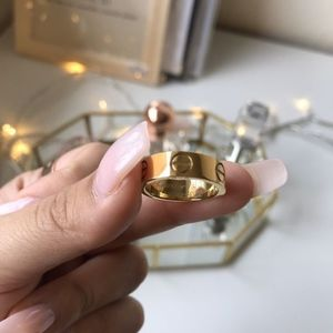 Cartier Style Gold Love Ring